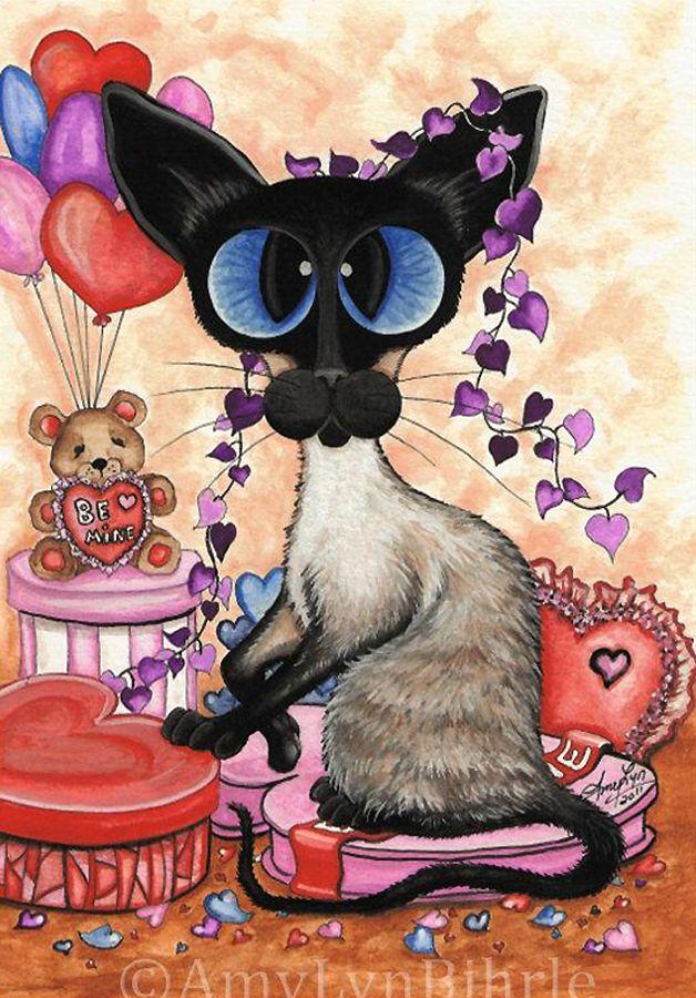 Картинки с кошками на день рождения девочке
