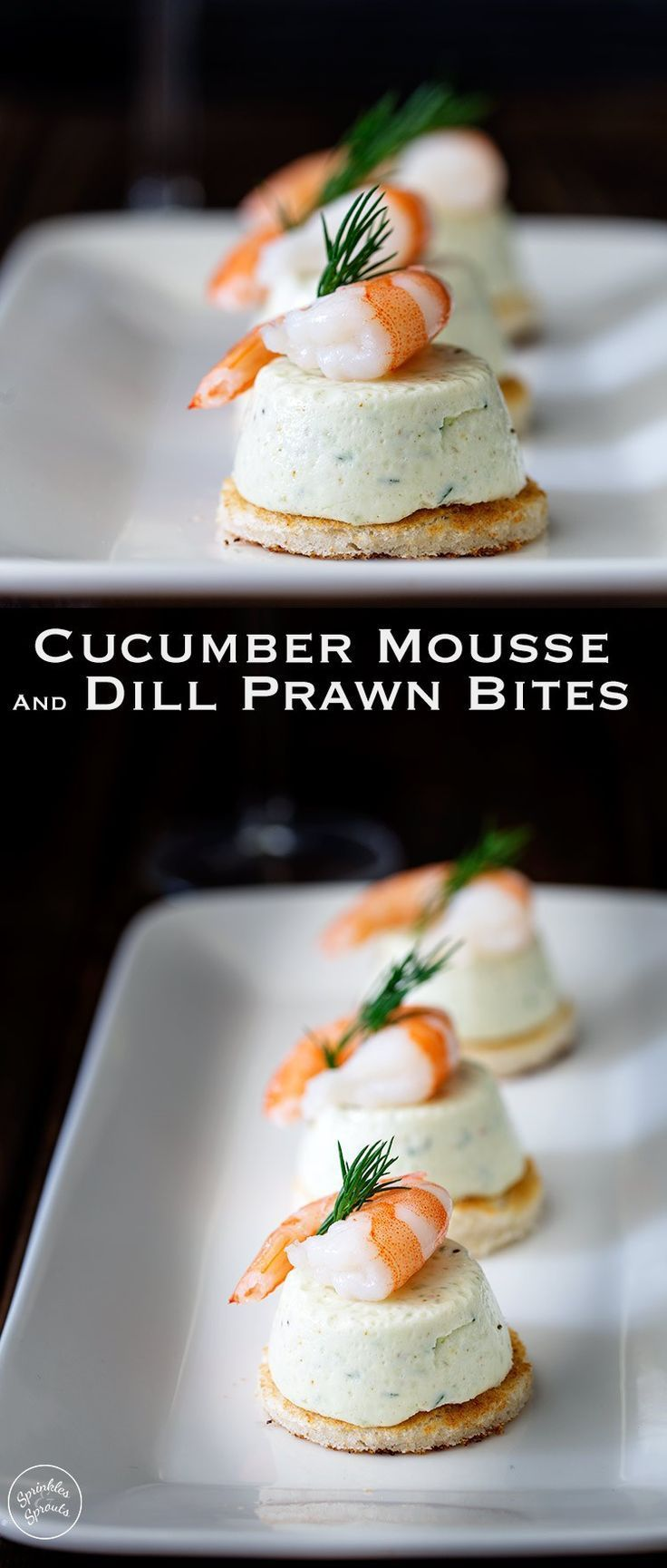 These Cucumber Mousse And Dill Shrimp Bites are sublime. The subtle and refreshing taste of cucumber combined in a soft heavenly mousse, sat on top of a crispy toast circle and topped with a succulent shrimp and the freshness of dill. From https://www.spr