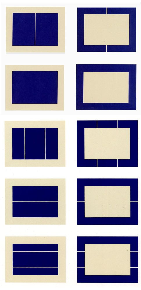 Donald Judd - Untitled (1988)  Suite of ten woodcuts printed in ultramarine