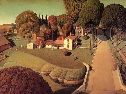 Grant Wood - The Birthplace of Herbert Hoover (1931)