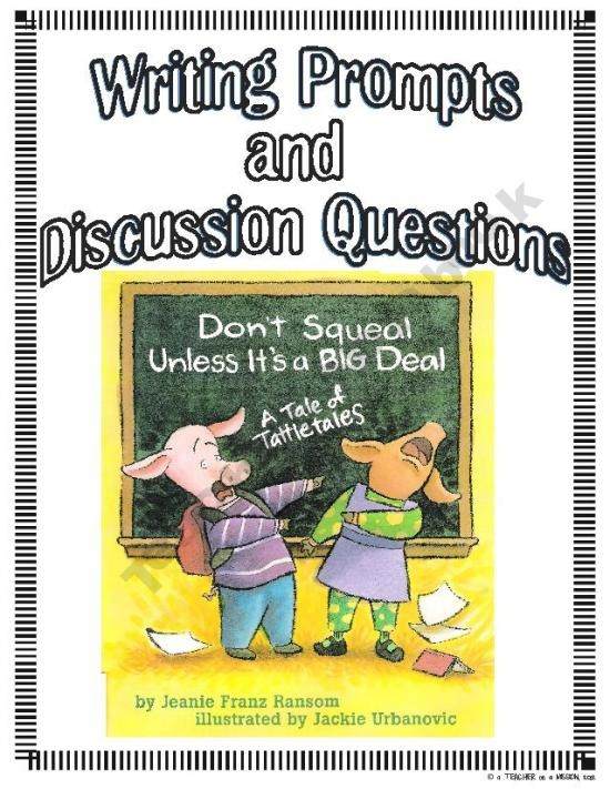 Don't Squeal Unless It's a Big Deal: Writing Activities About Tattle-Tailing product from a-TEACHER-on-a-MISSION on TeachersNotebook.com