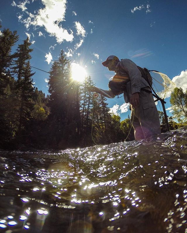 The meditation of fly fishing... #FlyFishing #Colorado