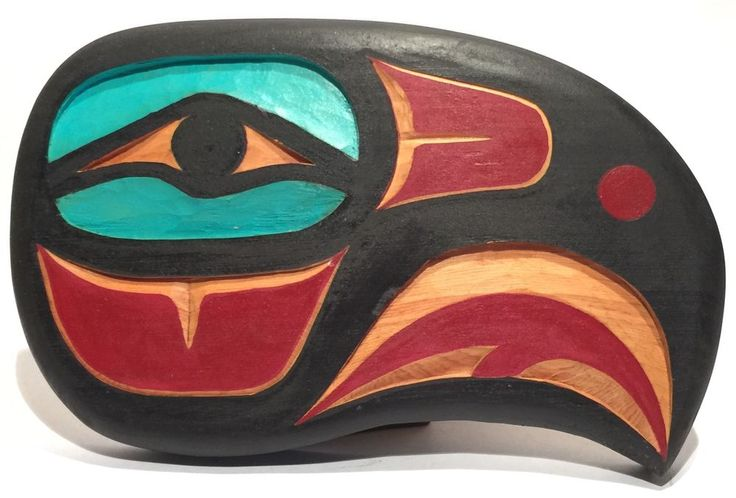 BRIAN CHILTON TLINGIT ALASKA PACIFIC NORTHWEST NATIVE AMERICN EAGLE WOOD CARVING