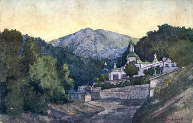 Crimea -Monastery of St. Cosmas and St. Damian (1924) Anna Petrovna Ostroumova-Lebedeva (Анна Петровна Остроумова-Лебедева. Unión Soviética. Rusia, 1871-1955)