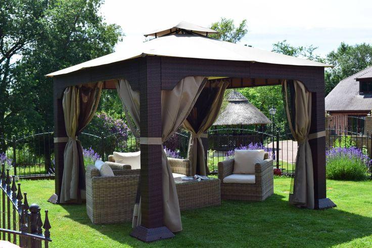 Weaves Blenheim Sofa Set featured with our Regent gazebo : Modern garden by World Of Weave UK Ltd