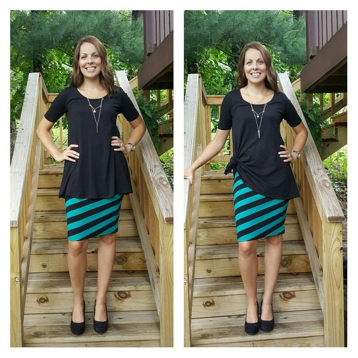 Lularoe Cassie skirt and Perfect Tee  Like the look? Come shop with us: www.facebook.com/lularoekatelea