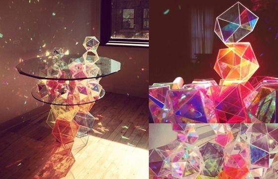 Juxtapoz Magazine - The Sparkling Geometric Table by John Foster