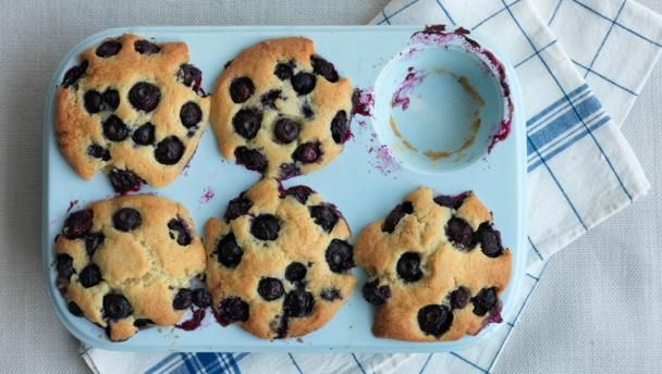These are the best blueberry muffins ever. Leave the mix to rest for as long as your willpower can bear…