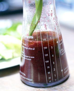 Homemade salad dressing recipe for a Blackberry Vinaigrette from 5DollarDinners.com