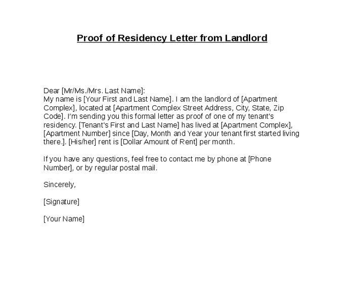 Letter To Show Proof Of Residency from i.pinimg.com