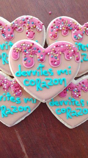 Resultado de imagen para tarjetas de galletas decoradas