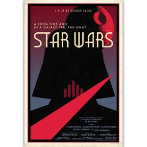 Limited edition designer Star Wars movie poster by Russell Walks