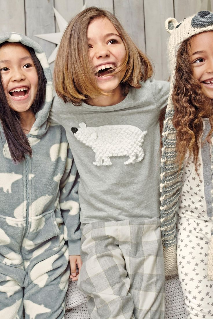 Buy Grey Polar Bear Check Pyjamas (3-16yrs) from the Next UK online shop