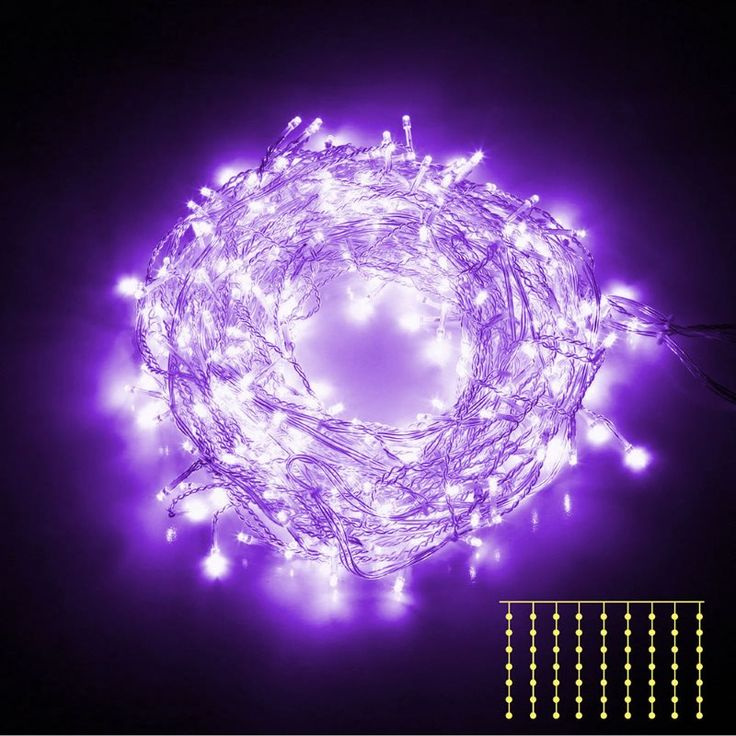 600 Bright Curtain LED Christmas Lights in Purple | Buy More