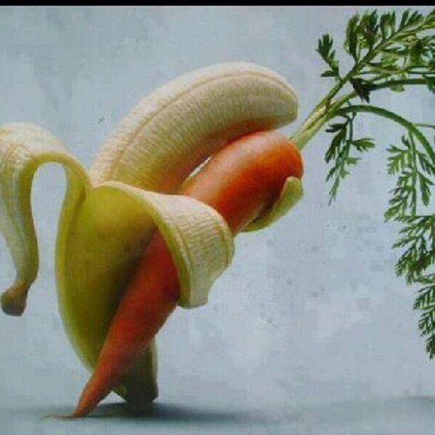 Tonight I even kiss carrots! Happy New Year banana friends :)