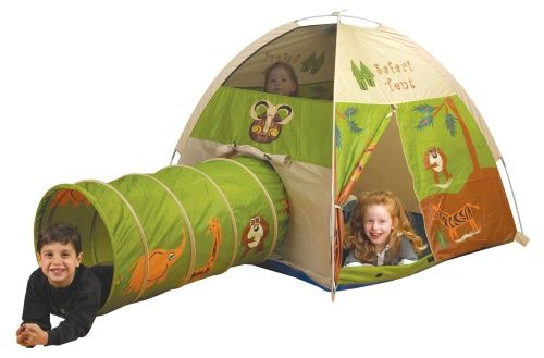 Pacific Play Tents Jungle Safari Nylon Play Tent and Tunnel Combo - Indoor Playhouses at Hayneedle