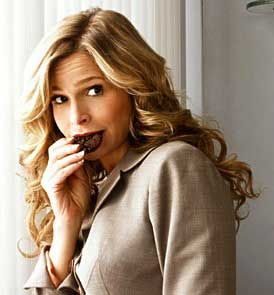 Brenda Leigh eats a lot of chocolate to help take the edge off. She has a high-stress job.