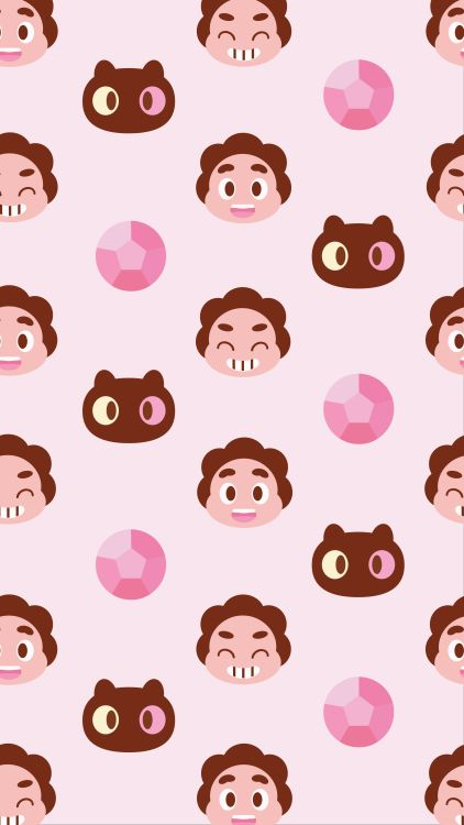 Steven Universe fanart pattern. I like the simplified rendering of the Cookie Cat character, and the way Steven is stylised to match.