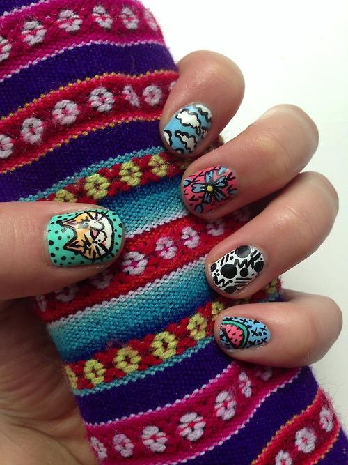 Summer nails // liisakaarsoo.tumblr.com