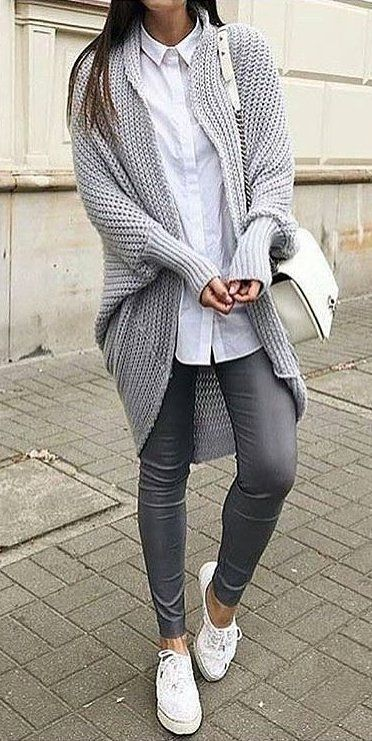 bd7cf5c9e50d Stylish With Grey Legging Outfits