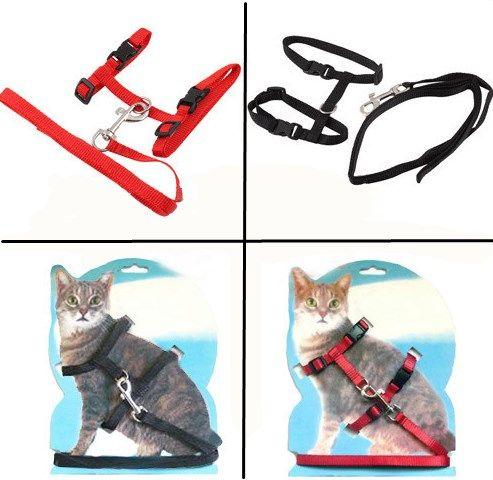 New Arrival New Nylon Pet Cat Kitten Adjustable Harness Lead Leash Collar Belt Safety Rope