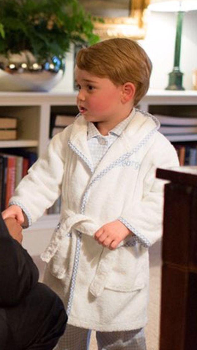 Prince George meets President Obama at Kensington Palace, Apt. 1A