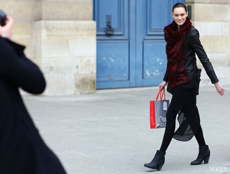 Street Style Paris Fashion Week Fall 2013 Vogue Casual Girl Pinterest