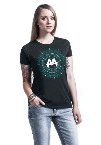 "Maglietta donna a maniche corte nera ""Mandala Turquoise"" degli #AskingAlexandria."