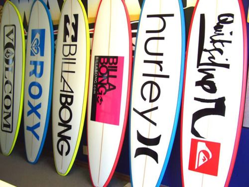 Surfboards are one of many great one-of-a-kind branded products