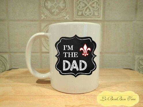 I am Dad chalkboard mug