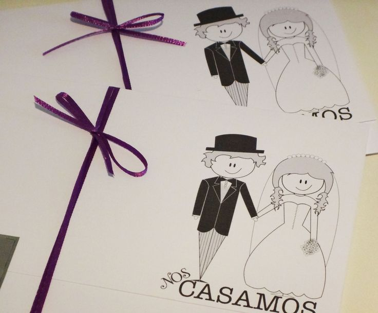 Partes de matrimonio con caricaturas