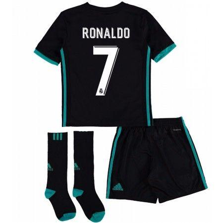 Real Madrid Cristiano Ronaldo 7 Udebanesæt Børn 17-18 Kort ærmer #Billige Fodboldtrøjer
