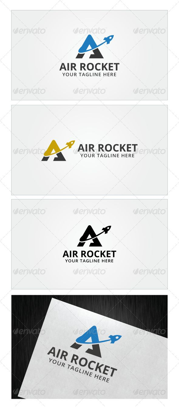 Air Rocket - Logo Design Template Vector #logotype Download it here: http://graphicriver.net/item/air-rocket-logo-template/7863854?s_rank=786?ref=nexion