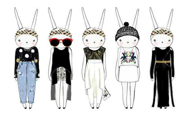 Fifi Lapin: Sass & Bide paper dolls