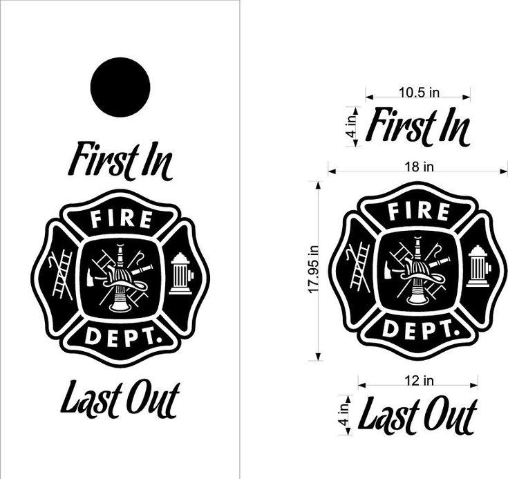 Fire Police Firemen Cornhole Board Decals Sticker 13BB