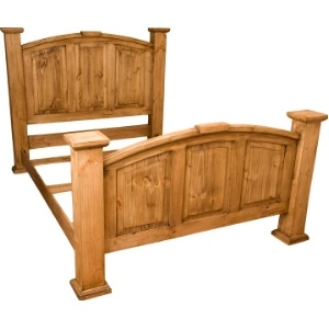 rustic wood king bed