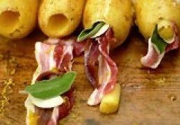 Recept voor Aardappel gevuld met bacon