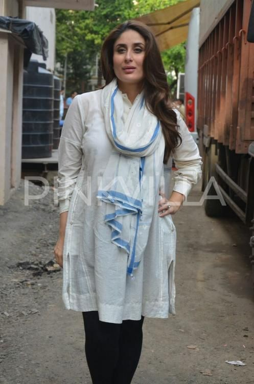 Kareena Kapoor Khan is clicked here during a photo-shoot for a brand. The…