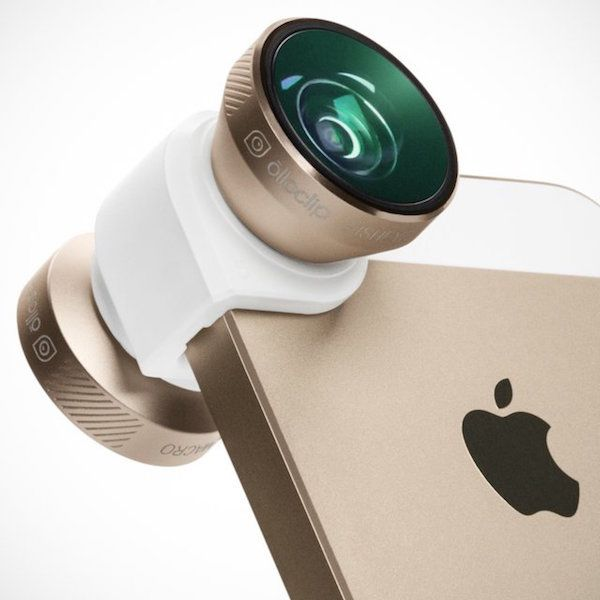 Coming with 4-advanced optic lenses, the Gold Olloclip 4-in-1 iPhone 6/6 Plus Lens is the all-new olloclip for mobile photographers.