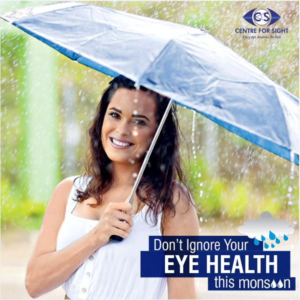 Monsoons bring with them an army of infections that cause eye pain & discomfort. Proper eye care should become a priority during monsoons to help protect from infections like conjunctivitis, stye, dry eyes & corneal ulcers which can lead to blindness. #EyeCare #EyePain #Itching #RedEye #EyeHealth #Monsoon #Sight #Vision #Blindness #CFS #Glasses #ContactLens #Conjuctivitis #Infection #Discomfort #Health #Eye