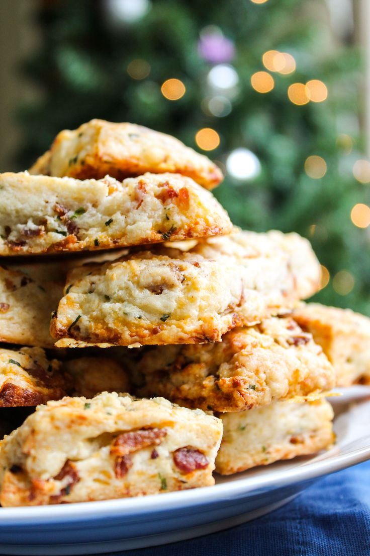 Bacon White Cheddar Scones from TheFoodCharlatan.com