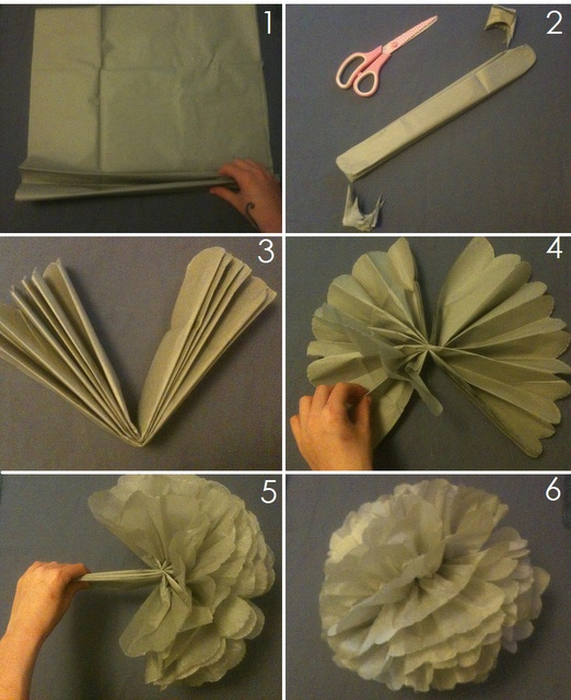 16 October: How to make a tissue pom pom. Used this tutorial to make 3 pom poms in different colours and sizes. They look great. Instructions easy to follow.