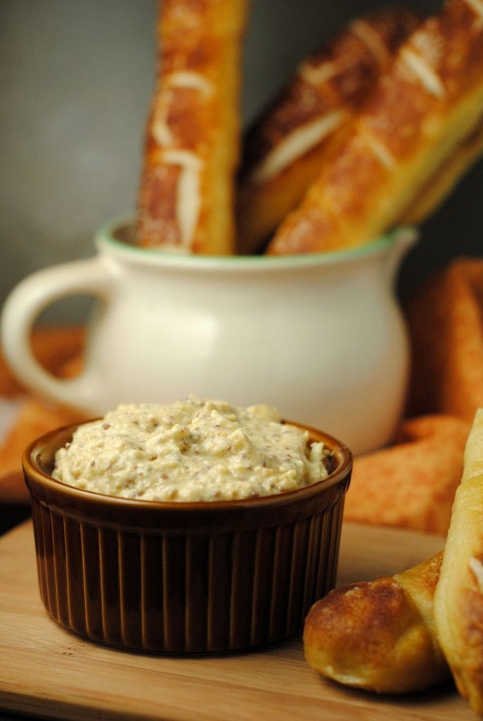 Cheesy Mustard Pretzel Dip #food #recipes