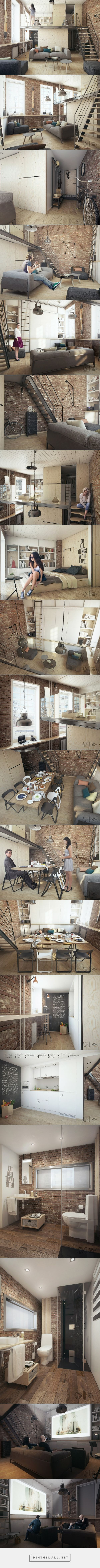 One bedroom apartment for a young couple - created via http://pinthemall.net