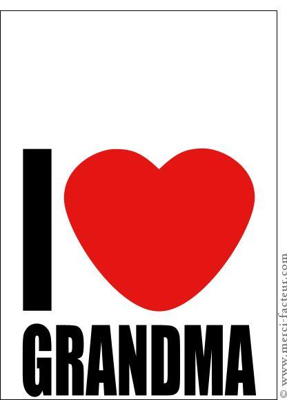 Carte I love grandma personnalisable pour envoyer par La Poste, sur Merci-Facteur ! #carte #fêtedesgrandsmères