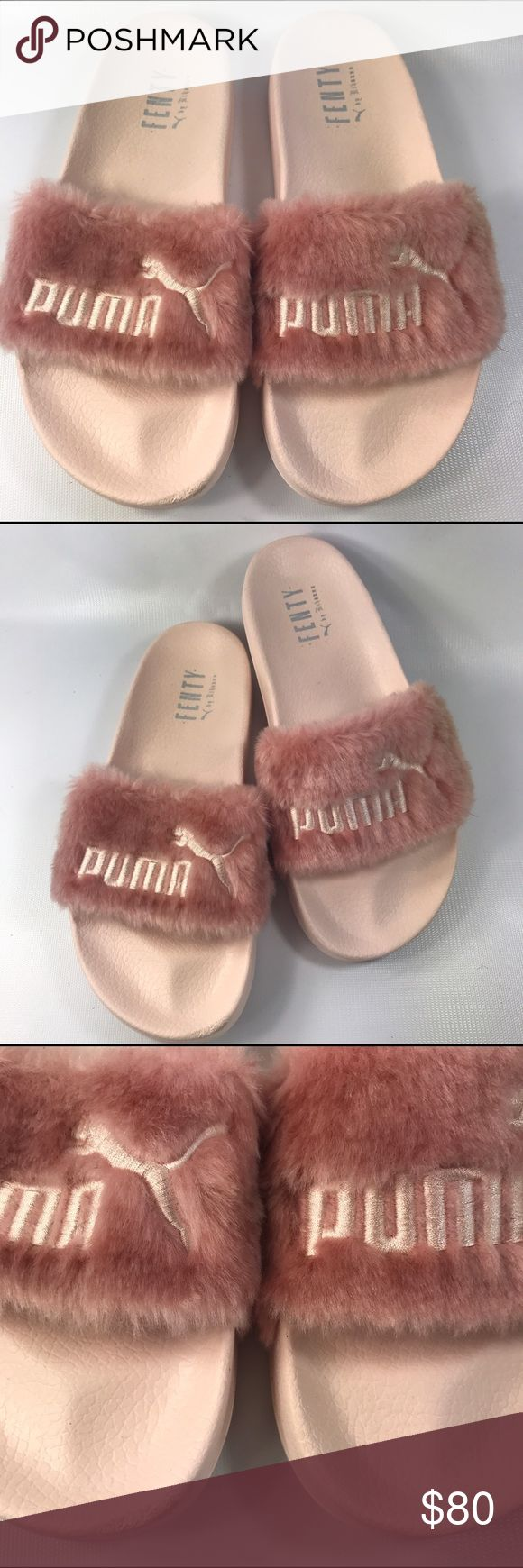 Pink Puma Fenty By Rihanna slides! Size 8.5 Really cute pink Fenty Puma by Rihanna Slides, size 8.5! These are in excellent condition besides a very small scuff on the tip of the right footbed. Hardly noticeable & otherwise perfect ;-) No trades at this time, but thanks so much for looking! Puma Shoes Sandals