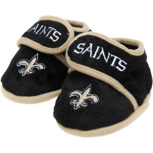New Orleans Saints Infant Plush Slippers Black