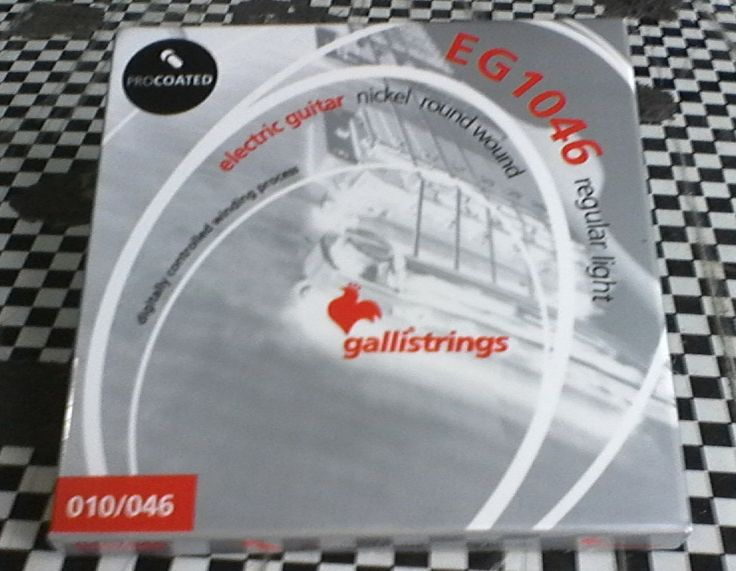 still using Gallistrings EG1046.. best price with fine quality so far #guitar #strings
