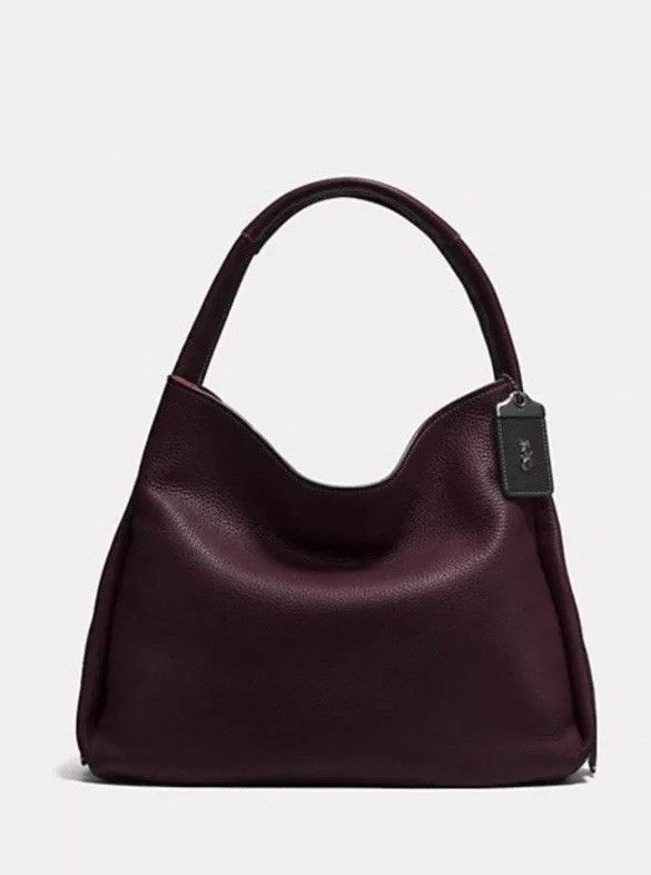 00200bb145 COACH Bandit Hobo 39 in Oxblood/Black Copper #fashion #clothing #shoes #