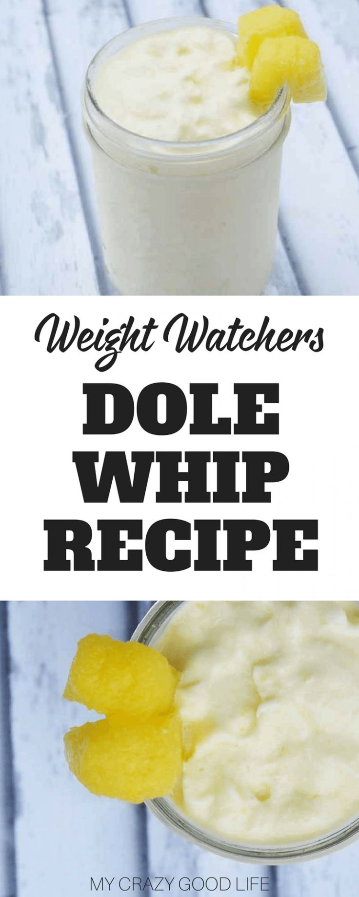 This delicious dole whip Weight Watchers recipe is delicious, creamy, and full of flavor. It's the perfect indulgent treat that you can blend up in no time. #weightwatchers #smartpoints #recipes